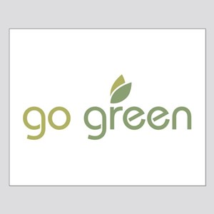 Go Green [text] Small Poster